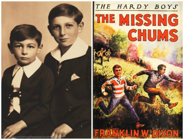 Hardy Boys book and vintage photo of Brothers