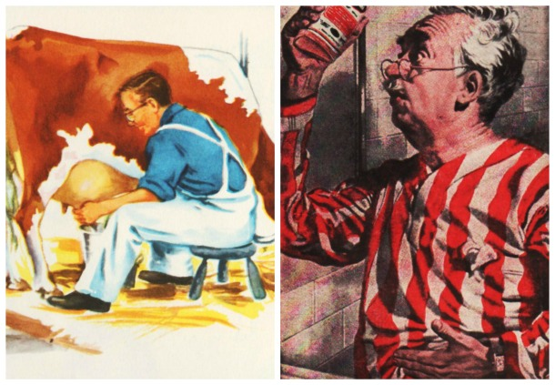 health vintage cow milking and old man PicMonkey Collage