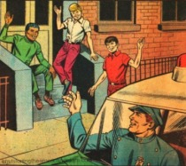 vintage comic NYPD Police 1968