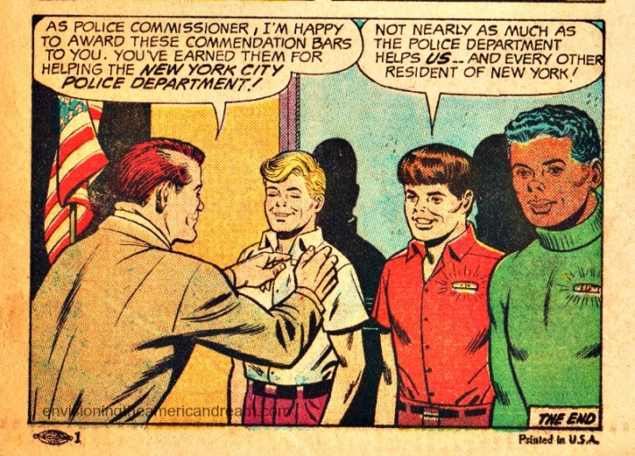 """Vintage Comic Book """"Your Friend the Policeman"""" produced by the New York Police Department 1968"""