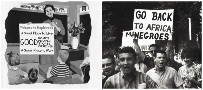 collage vintage schoolbook illustration civil rights protests