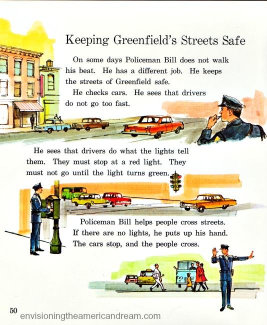Vintage illustration policeman Children's school boo
