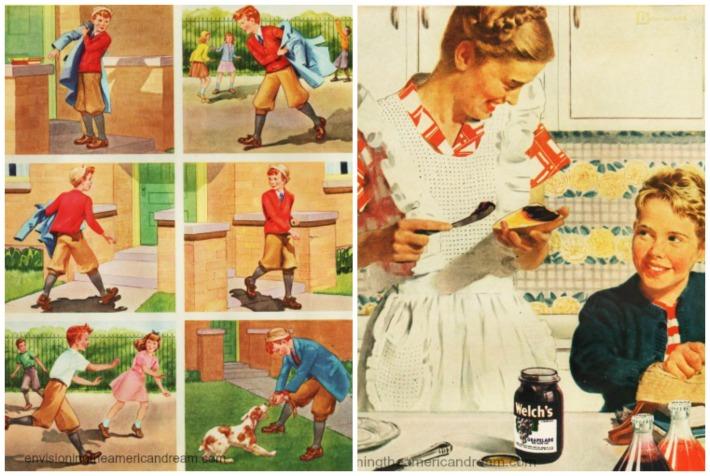 Vintage childhood images 1940s