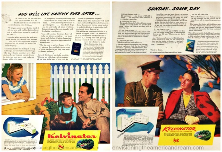 WWII American Dream Post WII ads