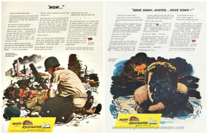 WWII Soldiers Nash Kelvinator ads