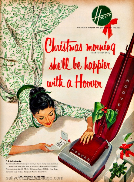 Vintage sexist ad Hoover 1953