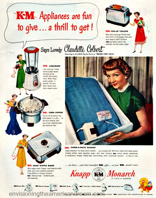 Xmas Kitchen Appliances Claudette Colbert