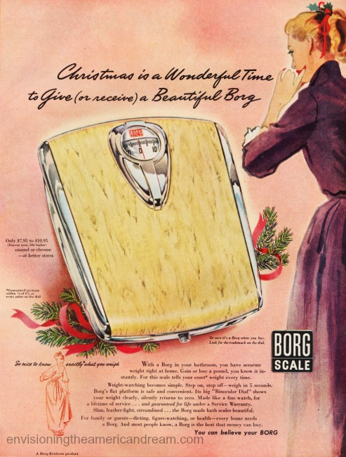 Vintage ad Bathroom scales for Xmas