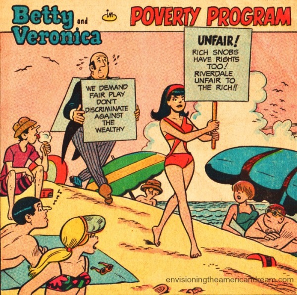 vintage comic book art Veronica Lodge Archie Comics.