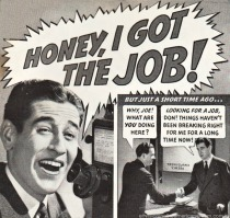 Vintage ad 1939 man on phone getting job