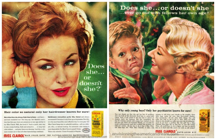 collage-Mad Magazine Miss Clairol Satire and Vintage Miss Clairol ad