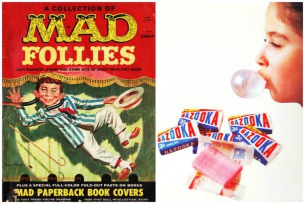 Mad Magazine and Bazooka Bubble Gum