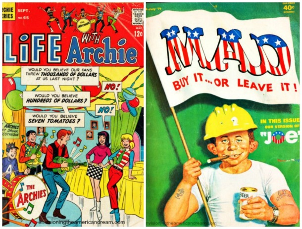 collage Mad Magazine Buy it or Leave It Archie Comc Book Cover
