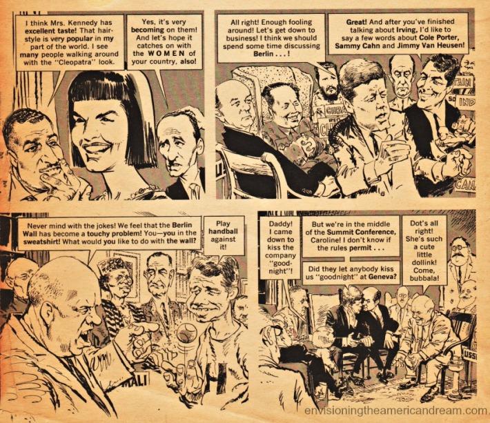 Mad Magazine story illustration JFK cold war White House Summit