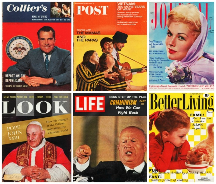 Mass Market Magazines Covers 1950s 1960s