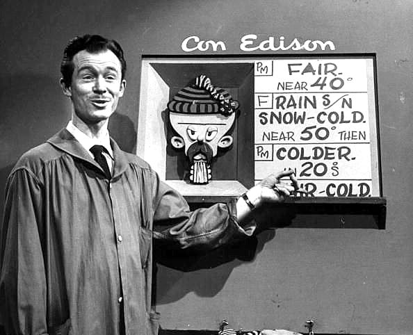 Vintage photo TV Weatherman Tex Antoine