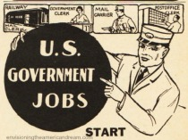 vintage ad US Government Jobs