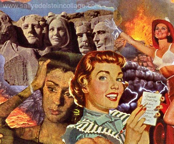 collage detail artwork sally edelstein