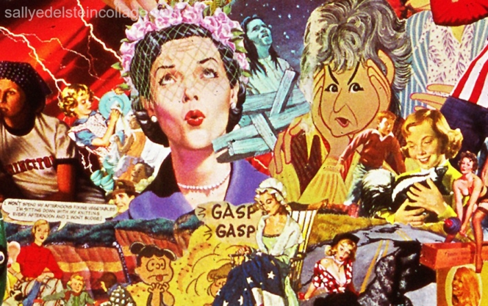 art work sally edelstein collage appropriated images