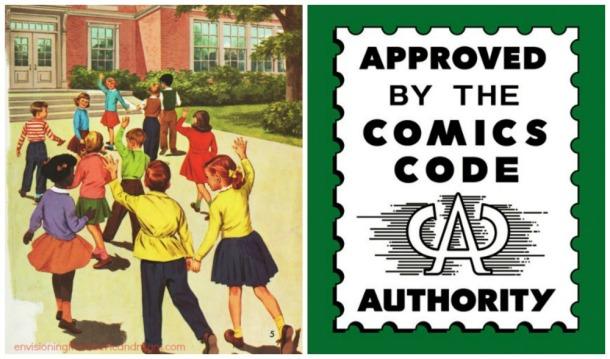 comics code and illustration school children