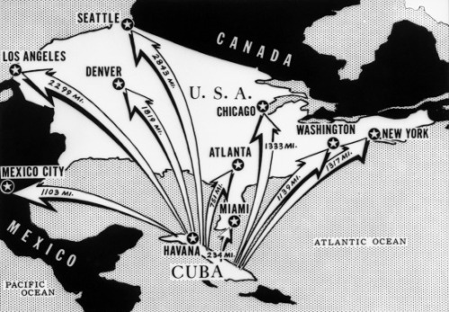 Cuba Missile crisis distances-of-major-cities-from-cuba
