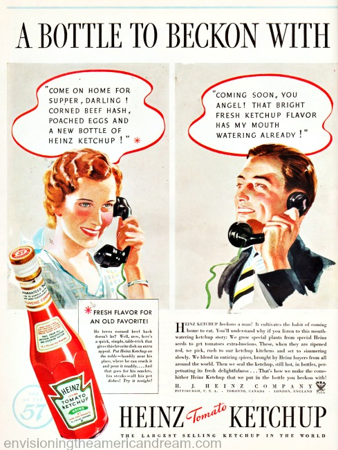 Vintage Heinz Ketchup Ad 1930s