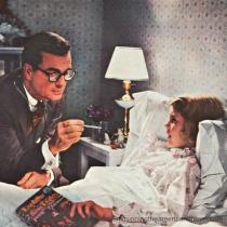 vintage picture dr visiting sick child 1950s