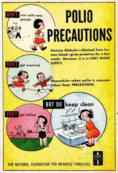 polio precautions poster