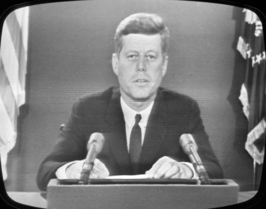 Image result for president kennedy went on radio and tv to inform the u.s. of the cuban blockade in 1962