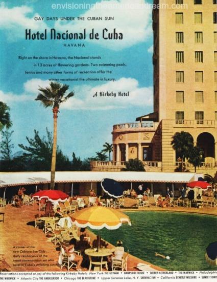 vintage ad travel cuba nacional de Cuba