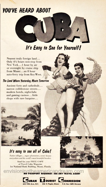vintage travel advertisement cuba
