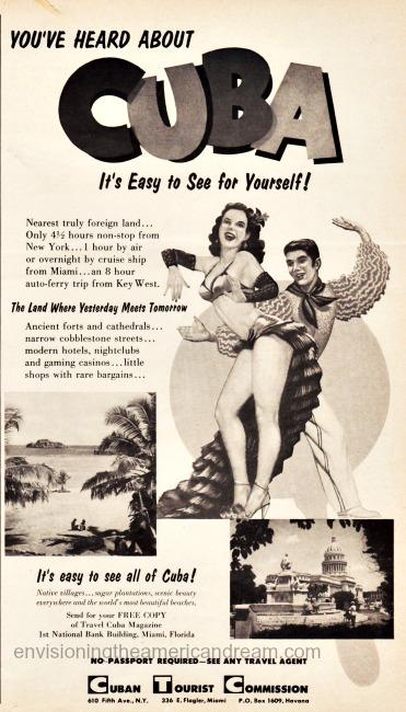 vintage travel advertisement cuba