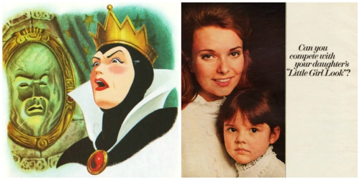 CCollage vintage illustration Snow White Queen and vintage Ivory Snow ad