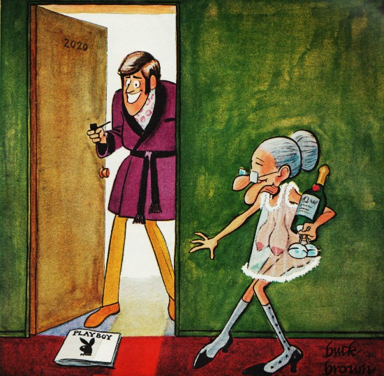 vintage cartoon horny granny from Playboy