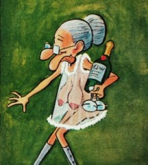 Vintage cartoon Horny Granny 1974