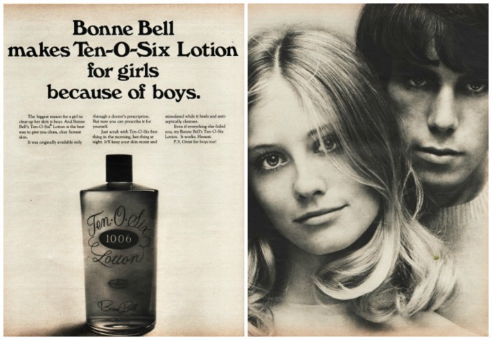 Beauty Bonne Bell Ten O Six Lotion vintage ad