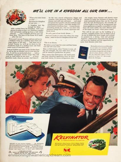 Vintage Kelvinator ad 1945 family