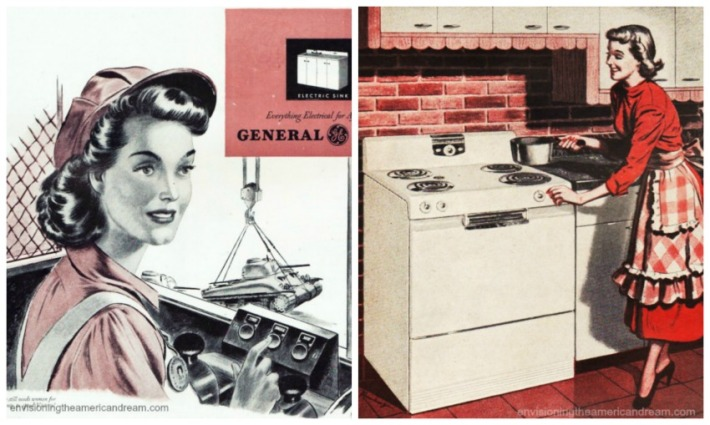WWII Women Postwar kitchen GE