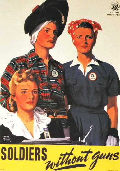 Vintage WWII Recruitment Poster for Women