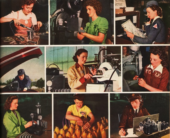 Images WWII Women work 1942