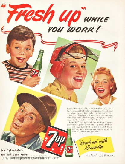 Vintage ad Women workers WWII