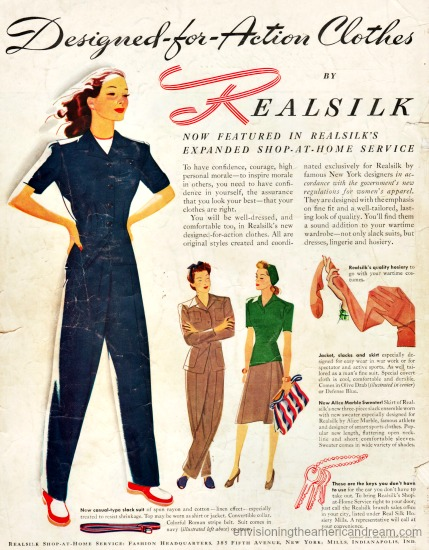 WWII Women work clothes realsilk ad