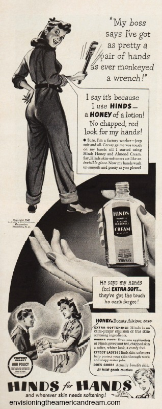 WWII ad Hand cream women work