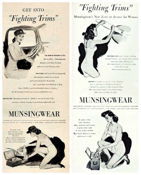 WWII Women Work Munsingwear