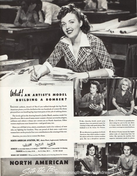 WWII vintage ad Women work sexist