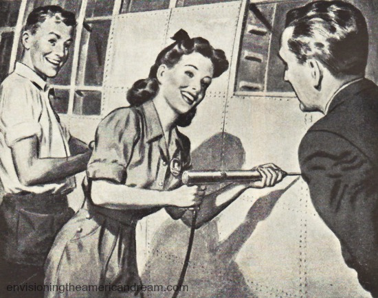 WWII Women work Rosie the Riveter