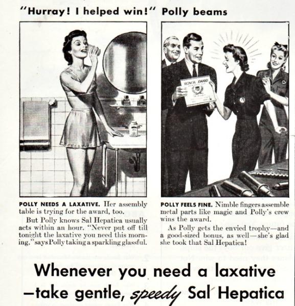 Vintage Sal Hepatica ad 1943