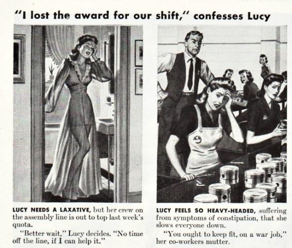 Vintage Sal Hepatica ad 1943 illustrations