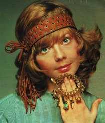 1970 hippy girl with jewelry