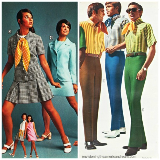 1970 fashion men and women